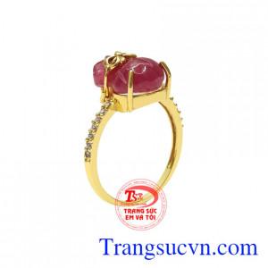 Nhẫn nữ Ruby lộc phát