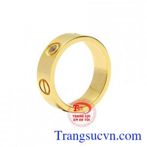 Nhẫn nữ vàng màu thời thượng