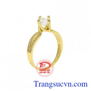 Nhẫn vàng màu thanh tú