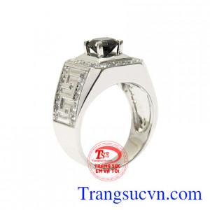 Nhẫn vàng trắng bản lĩnh phái mạnh