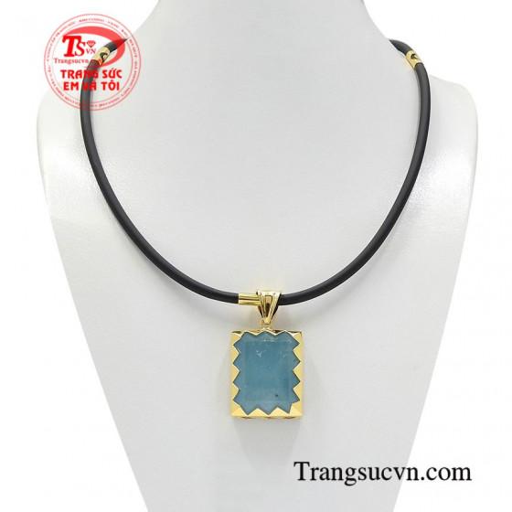 Bộ mặt dây aquamarine chất lượng