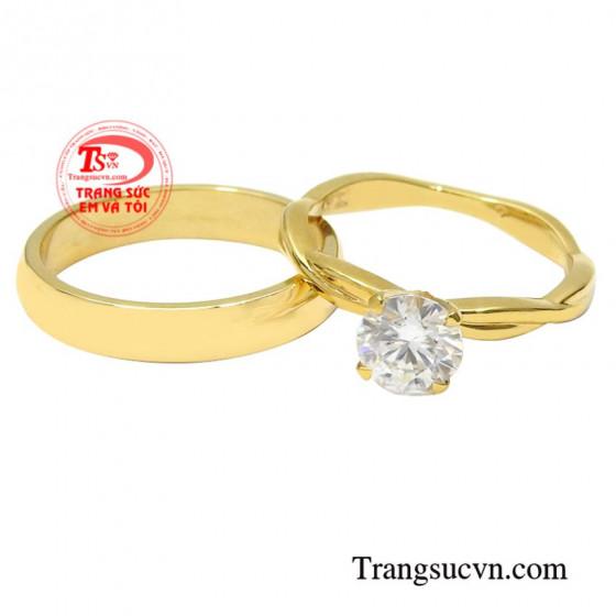 Nhẫn cưới tình yêu đậm sâu