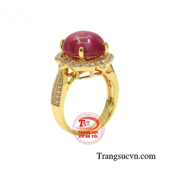 Nhẫn nữ ruby sao ấn tượng