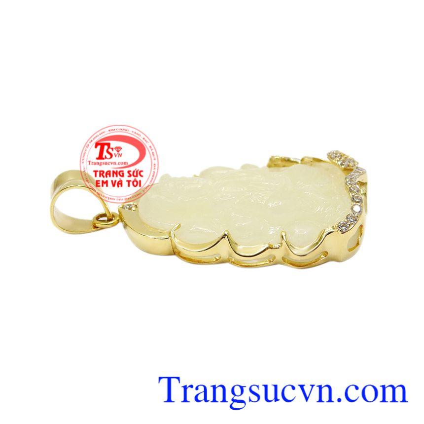 Phật Quan Âm Sapphire Hiền Từ, Mặt phật an nhiên, Mặt phật bọc vàng bình an