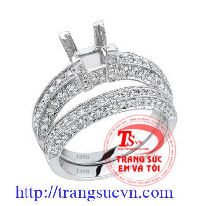 Vỏ nhẫn cưới kim cương