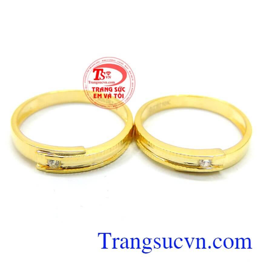 Nhẫn cưới sang trọng vàng 10k