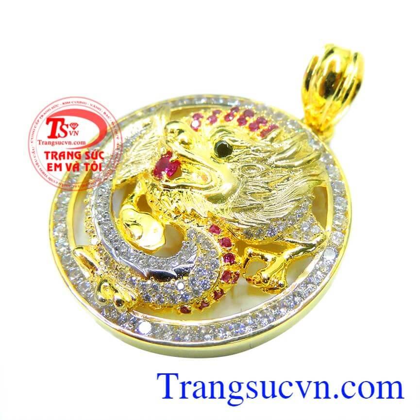 Mặt rồng vàng 3D uy quyền đẹp