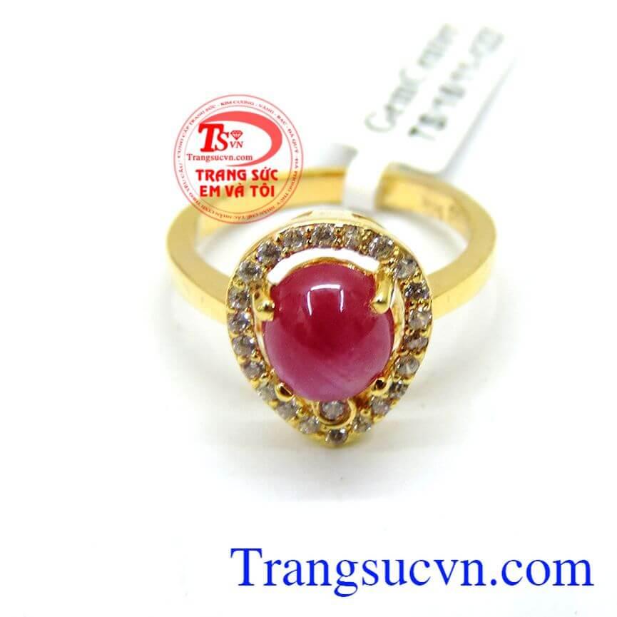 Nhẫn ruby nữ tính thời trang đẹp