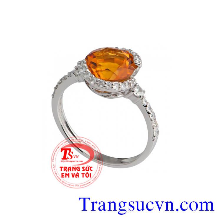Nhẫn nữ vàng tây đá quý