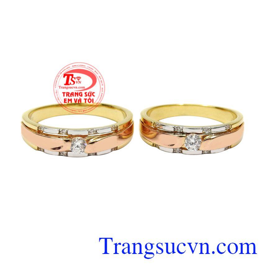 Nhẫn cưới vàng cam kết ngọt ngào, Nhẫn cưới vàng tây, Nhẫn cưới vàng cao cấp