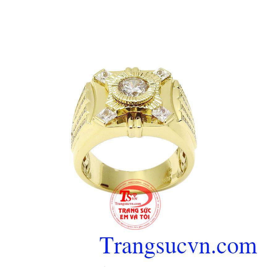 Nhẫn vàng phái mạnh thời thượng, Nhẫn nam vàng tây, Nhẫn nam thời trang sang trọng