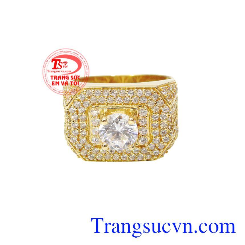 Nhẫn nam vàng tây thành đạt, Nhẫn nam vàng đẹp, Nhẫn vàng tây thời trang