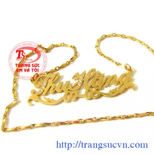 day-chuyen-chu-vang-theo-ten,Đặt mặt dây chuyền chữ vàng tây, đặt mặt dây chữ vàng trắng, đặt mặt chữ vàng 10k, 12K,14k,18k theo yêu cầu