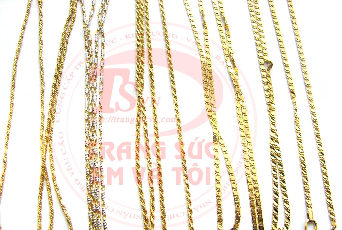 Mẫu dây chuyền vàng ý, day chuyen Italya