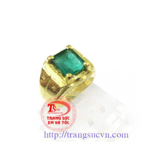 Nhẫn nam nam đá Emerald