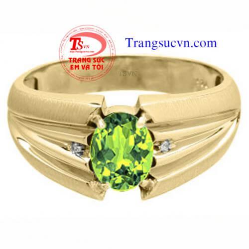 nhan_nam_peridot_vang_dep,;Nhẫn nam peridot vàng đẹp