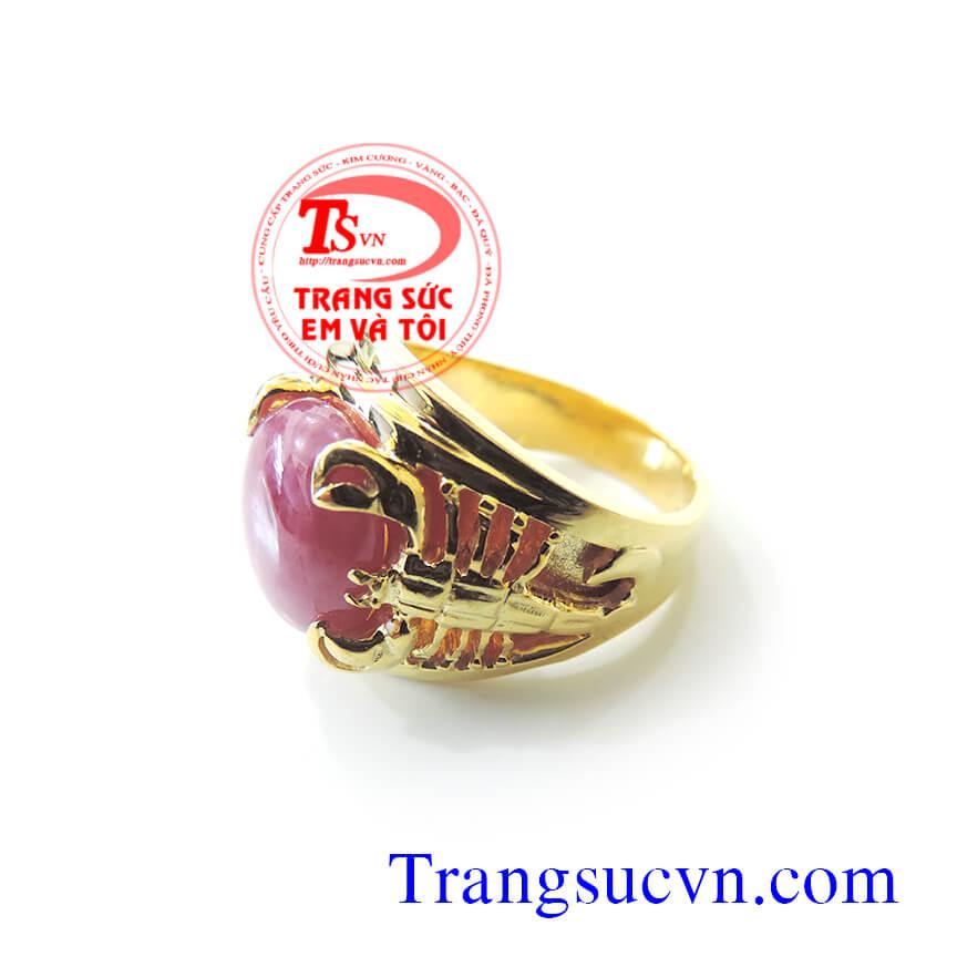 Hình ảnh: Nhẫn nam đẹp, nhẫn nam bọ cạp, nhẫn nam vàng tây, nhẫn nam vàng 14k, nhẫn nam ruby