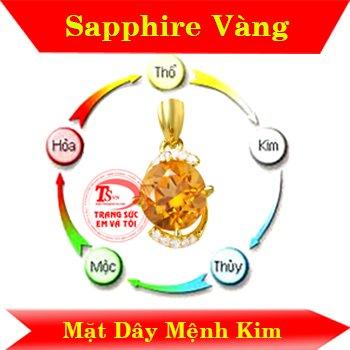 Mặt dây sapphire vàng mệnh kim