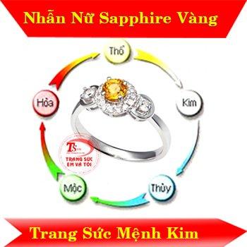 Nhẫn nữ sapphire vàng